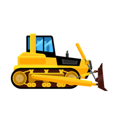 Bulldozer isolated quarry hydraulic machine for vector