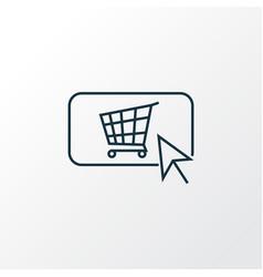 buy button icon line symbol premium quality vector image