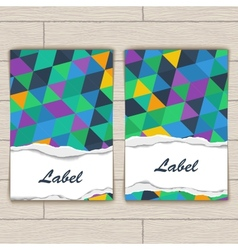 Card with Pattern of Colorful Lozenges vector image