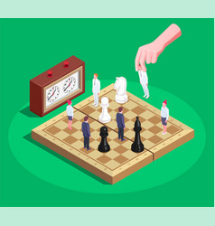 chess isometric composition vector image