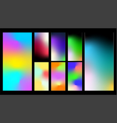 colorful gradient abstract background vector image