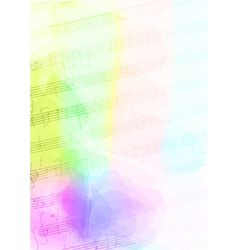 Colour Background with handmade musical notes vector