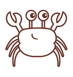 Cute crab character icon vector