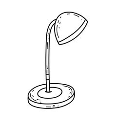 cute desk lamp icon vector image
