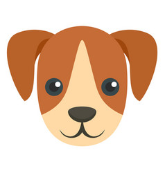 cute dog mascot icon flat style vector image