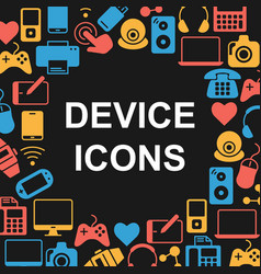 device outline icons set vector image