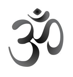 diwali om sacred symbol vintage style decorative vector image