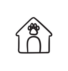 Doghouse sketch icon vector