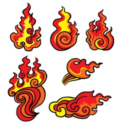 elements of fire vector image