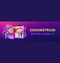 Endometriosis concept banner header vector