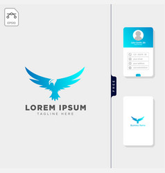 falcon flying bird logo template free business vector image