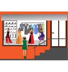 Fashion shop vector image
