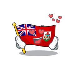 Flag bermuda isolated in love cartoon mascot vector