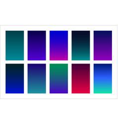 Galaxy color palette gradient backgrounds set vector