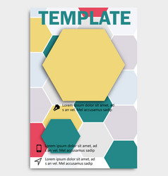 geometric shape diamond abstract template vector image