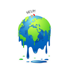 Global melting concept global warming vector