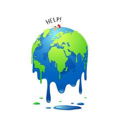 Global melting concept warming vector