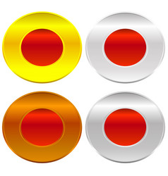 Gold silver bronze and platinum badges butotns vector