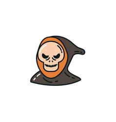 Halloween death face flat character vector