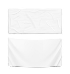 Hanging clear white flag template vector
