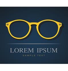 image of glasses orange vector image