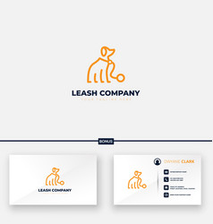 Leash company logo design for dog abstract vector