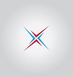 letter x shape logo vector image