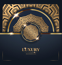 Luxury golden mandala background free vector