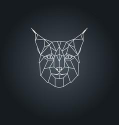 lynx polygonal head vector image