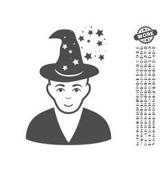 Magic Master Icon With Bonus vector