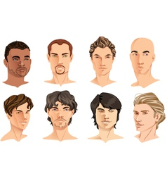 Male Portraits vector image