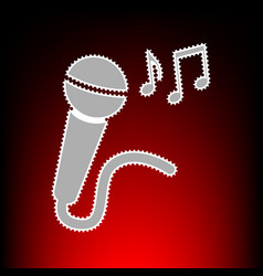 microphone with music notes vector image