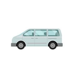 Mini bus for passengers airport service car vector