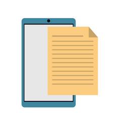 mobile phone document file paper digital vector image