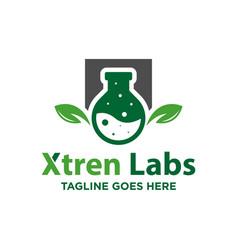 modern natural biological lab logo vector image