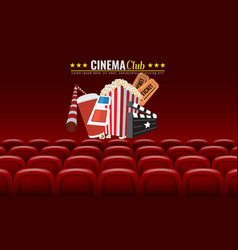 movie cinema premiere poster design vector image