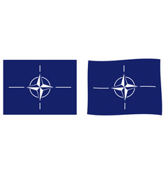north atlantic treaty organization nato flag vector image