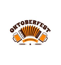 oktoberfest flyer banner beer festival logo vector image