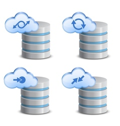 On-line backup service vector image