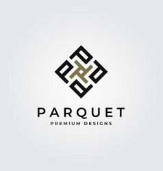 Parquet flooring logo initial letter p symbol vector