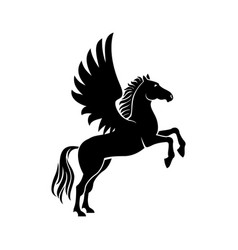 Pegasus isolated winged beast vector