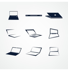 Portable icon set vector