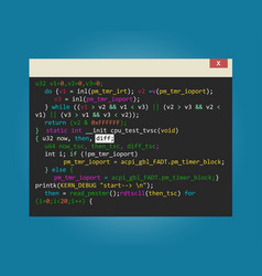 program code in development vector image