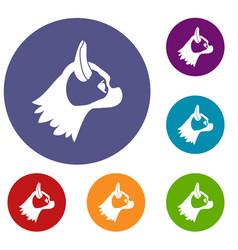 Pug dog icons set vector