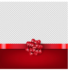 red bow with ribbon isolated transparent vector image