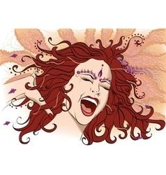 Screaming girl vector