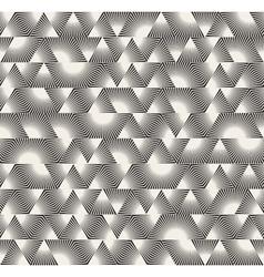 Seamless Black and White Triangle Sunburst vector image