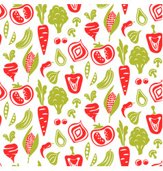 seamless food pattern background vector image