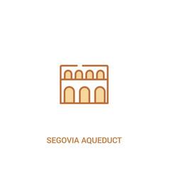 Segovia aqueduct concept 2 colored icon simple vector