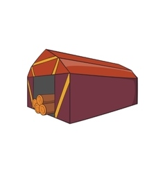 Shed icon cartoon style vector